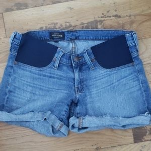 J Crew maternity jean shorts